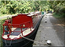 SP7287 : Canal moorings at Union Wharf by Mat Fascione