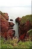 NO6641 : Arbroath Cliffs by Anne Burgess