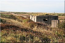 NJ3166 : Pill Boxes and Tank Traps by Anne Burgess