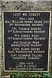 SO9312 : Names on Brimpsfield War Memorial by Philip Halling