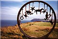 NZ6921 : Sculpture on Hunt Cliff by Graham Horn