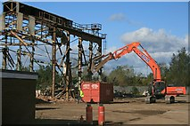 NZ5120 : Demolition of Steel Shed by Mick Garratt