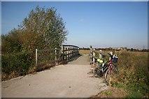 SK8159 : Bridge over Slough Dyke by Richard Croft