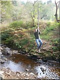 NS0129 : Rope swing over Monamore Burn by William Bartlett