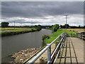 SE5603 : Doncaster - Don Footbridge & View to Newton by Dave Bevis