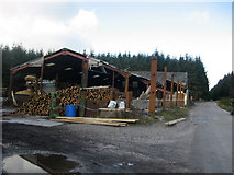 SD7656 : Sawmill in Gisburn Forest by Chris Heaton