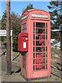 NT6523 : Bonjedward: postbox № TD8 84, hugging phone box by Chris Downer