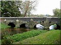 SU0000 : Bridge over the River Allen, Walford by Rose and Trev Clough