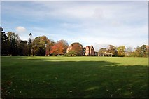 NZ2910 : Hurworth Grange and playing field by Nick W