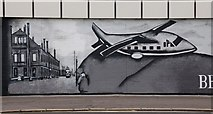 J3673 : Mural, east Belfast by Albert Bridge