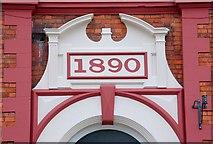 J2664 : Former Lombard Cafe, Lisburn (detail) by Albert Bridge