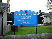 NY0130 : Seaton Methodist Chapel, Sign by Alexander P Kapp