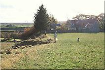 NJ1654 : Shoot in progress by the old school in Kellas by Des Colhoun