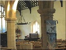 SH1726 : Rhan o gorff yr eglwys. Part of the nave of St Hywyn's Church. by Eric Jones