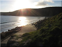 SH1626 : Sundown at Porth Simdde by Eric Jones