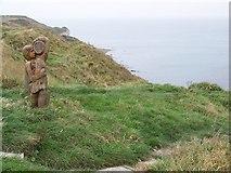 TA2372 : Cliff top sculpture at North Landing, Flamborough Head by Maigheach-gheal