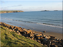 SH1626 : The beach west of Aberdaron at high tide by Eric Jones