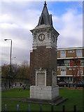 TQ3581 : Memorial Clock, Stepney Green by Dr Neil Clifton