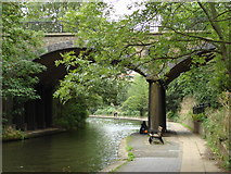 TQ2783 : Bridge carrying Avenue Road over the Regent's Canal by Oxyman