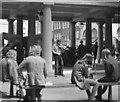 TQ3081 : Street fiddler, Covent Garden by Dr Neil Clifton