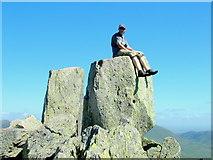 SH6659 : Summit of Tryfan by George Tod