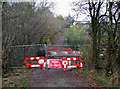 SO6587 : Road Closed, Lower Faintree, Shropshire by Roger  Kidd