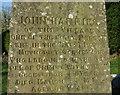 SN0025 : John Harries's grave, detail by ceridwen
