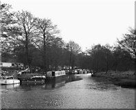 SU9946 : Junction of the Wey and Arun Canal with River Wey by Dr Neil Clifton