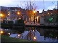 SD9927 : Hebden Bridge canal wharf by John Illingworth
