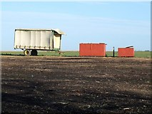 TF3686 : Farm trailer near Halfway House by Dave Hitchborne