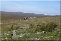 SX5680 : Outcrop on Lynch Tor by Nigel Mole