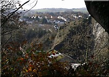 SX9065 : Southern edge of Windmill Quarry from Daison Heights by Derek Harper