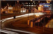 J3474 : The Queen Elizabeth Bridge, Belfast (2) by Albert Bridge