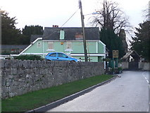 SJ1065 : White Horse, Llandyrnog with adjacent church. by Eirian Evans