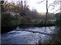 SM9636 : Glynymel weir and millstream by ceridwen