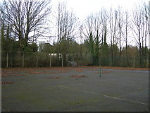 TQ7668 : Disused Hard Tennis Courts, Brompton by Danny P Robinson