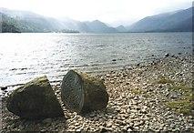 NY2621 : Centenary Stone on the Derwent Water shore by Trevor Rickard