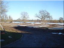 SO8346 : Caravan pitches at Riverside Caravan Park by Trevor Rickard