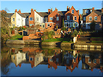 SU7172 : Houses beside the Kennet, Reading by Andrew Smith