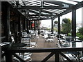 SU6304 : Patio at Lloyds No 1 by Basher Eyre