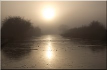 ST9161 : Frozen and misty canal by Doug Lee