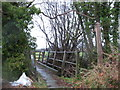 SJ3806 : Footbridge at Malehurst by Stephen Craven