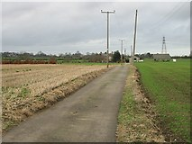 TR3156 : Farm road to Buckland Farm by Nick Smith