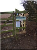 NT8837 : Access for steps to Flodden Field by Stanley Howe