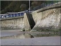 TA1280 : Sea wall steps at Filey by Maigheach-gheal