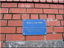 NS5564 : John Greig Statue Plaque Ibrox by Johnny Durnan