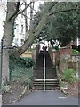 SZ1091 : Boscombe Chine Gardens: steps on footpath F01 to Owls Road by Chris Downer