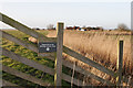 TG4606 : Heritage Lottery Fund sign on fence by Julie Williams