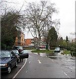 SU7682 : Mill Meadows car park entrance by Sandy B