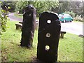 SD7314 : The standing stones before they were broken at Jumbles by frances barton